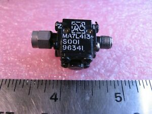 MA-Com-MA7L413-S001-Coaxial-Isolator-7-9-8-4-GHz-Microwave-SMA-MF-Used-Qty-1