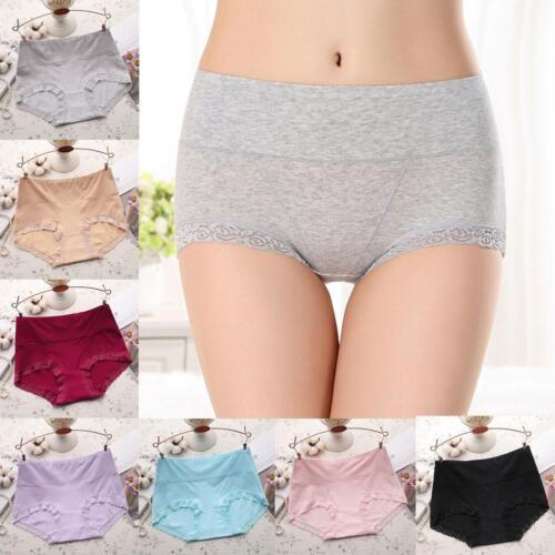 Haute en dentelle de mode femme taille Culottes dames coton de caleçons