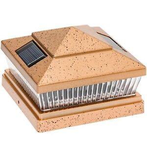 "10-Pk Copper Solar LED Cap Light For 4/""x4/""//5/""x5/""//6/""x6/"" Wood//PVC//Vinyl Fence Post"