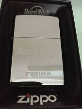 Hard Rock Zippo Lighter STOCKHOLM Polished Chrome