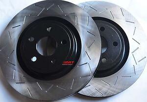 Fits-Mustang-Cobra-SVT-Slotted-Brake-Rotors-Premium-Grade-Rear-Pair-11-65-034