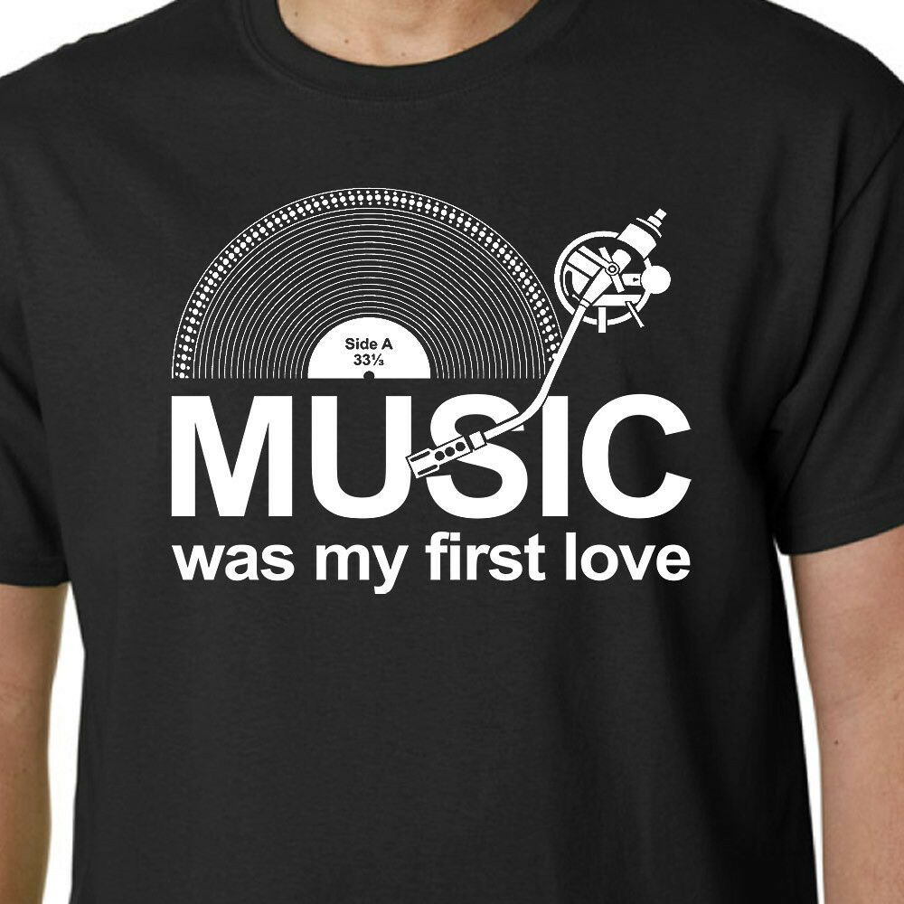 Musik war meine erste Liebe Camiseta LP Records Dj Tocadiscos Vinilo Eslogan