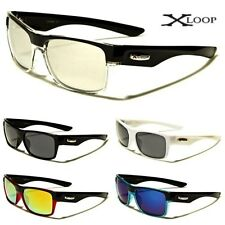 running sunglasses mens ros0  X-Loop Mens Retro Wrap Sports Boating Running Cool Sunglasses