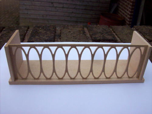 12th Scale Dolls House Balcony Kit Medium 8 Inches Wide