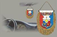 Philippines Rear View Mirror World Flag Car Banner Pennant