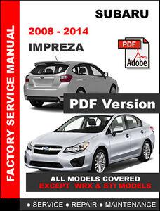Subaru impreza 2008 2014 factory service repair shop manual image is loading subaru impreza 2008 2014 factory service repair shop asfbconference2016 Choice Image
