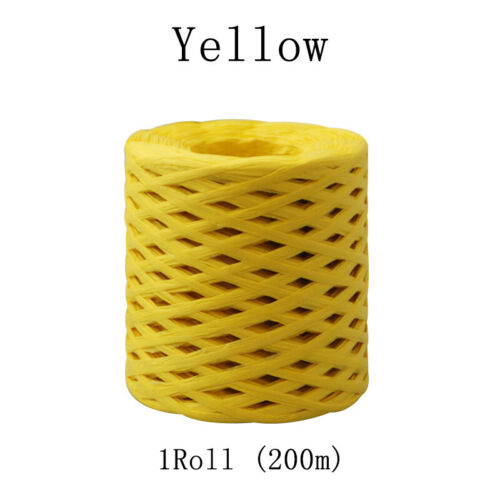 1PC Party Baking Paper Rope Wrapping String Raffia Ribbon Roll DIY 200m