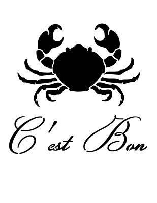 "Lobster Crawfish C/'est Bon Good Craw Fish 8.5/"" x 11/"" Stencil FAST FREE SHIPPING"