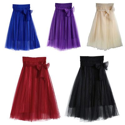 Tulle Tutu Skirt Long Wedding Prom Candy Elastic Mesh Dress