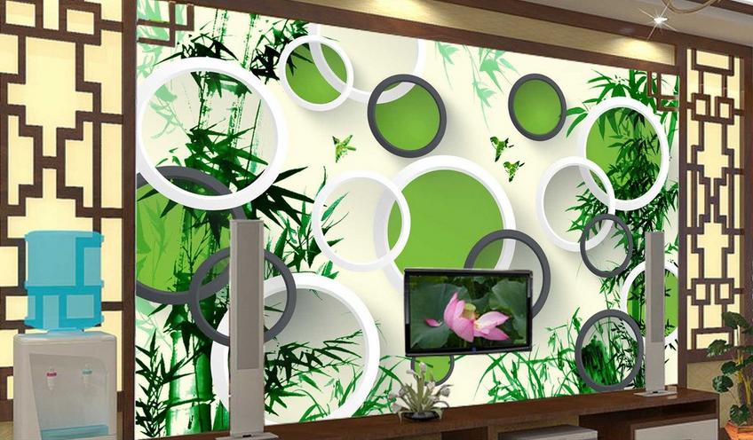 3D Bambus Ring Vogel 85 Tapete Wandgemälde Tapete Tapeten Bild Familie DE Summer | Üppiges Design  | Kostengünstiger  | Billig