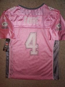 Green-Bay-Packers-BRETT-FAVRE-nfl-PINK-Jersey-Youth-GIRLS-xl-16