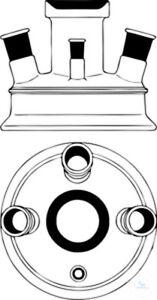 Couvercle-avec-la-Bride-de-Recouvrement-DN100-Fl-A-138-mm-MH-NS45-40-Sh-3xNS29