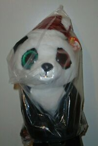 """Ty 16"""" LARGE Beanie Boos ~ PANDY CLAUS (Claire's Excl) Christmas Panda Bear NEW"""