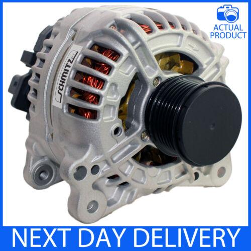 Se adapta a VW Sharan 2.0 TDI 2005-2013 140 Alternador Amperios Genuino Reman no S//S