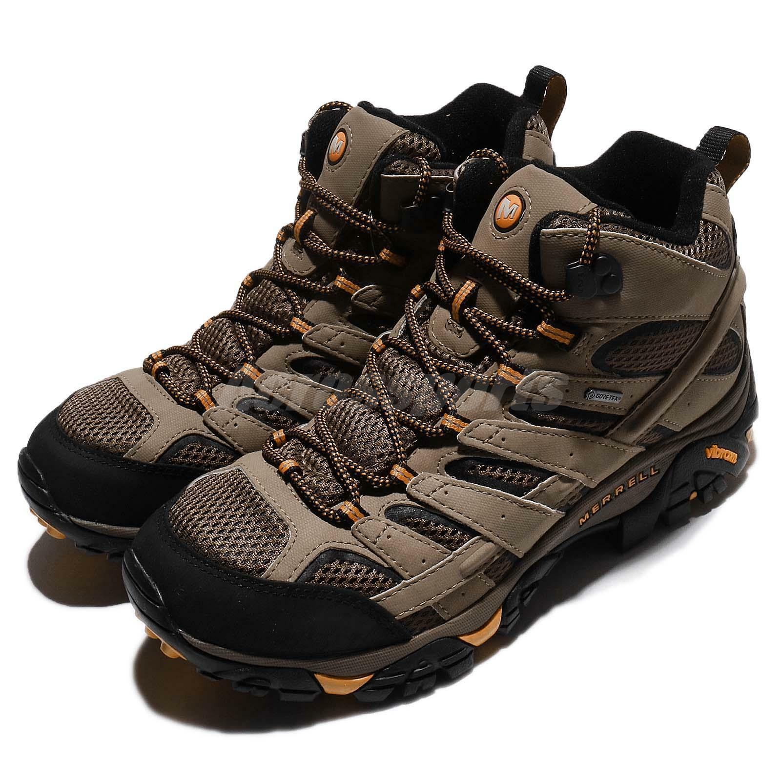 Merrell Moab 2 Mid GTX Wide  Gore -Tex Walnut Marronee Men Outdoor scarpe J06057W  designer online