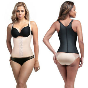 61618d0fd66c8 Diva Fit by Squeem 62CV Semivest Adj Strap Waist Trainer Latex ...