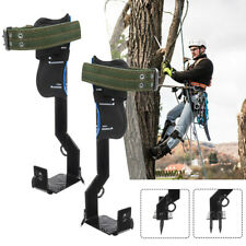 1 Pair Gears Tree Climbing Safety Rack Adjustable Lanyard Rope Belt With Straps