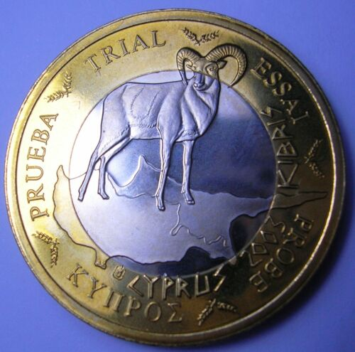 CYPRUS 1 Euro 2003 Specimen//Probe UNC KM NEW