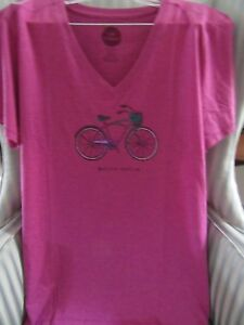 Details about NWTS LIFE IS GOOD WOMENS S/S COOL VEE TEE BICYCLE