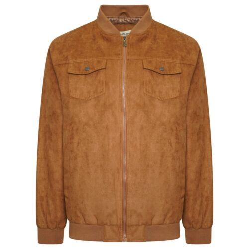 Mens Faux Suede Grandad Collar Summer Light Full zip Jacket Coat Size S to 5XL