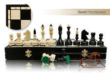 SPLENDIDA Classic TOURNAMENT 50 cm / 25 in grande in legno set di scacchi