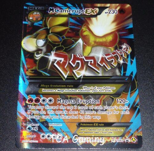 MEGA M Camerupt EX XY198a XY Black Star Promo FULL ART Pokemon Card NEAR MINT