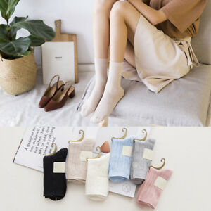 6-Pairs-Womens-100-Cotton-Soft-Candy-Color-Cute-Ankle-Dress-Casual-Warm-Socks