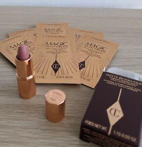 Charlotte Tilbury Pillow Talk Lipstick 1.1g with Night Cream Samples