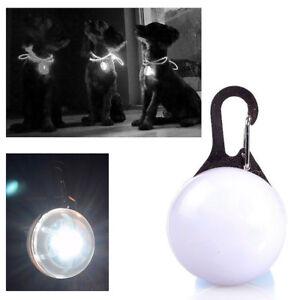 Mini-Lampe-LED-Lumiere-de-Nuit-de-Securite-pour-Collier-Chien-Blanc