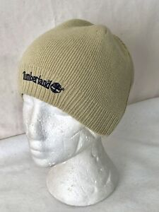 cbee252af72 OS Timberland Men s Acrylic Knit Embroidered Logo Beanie Tan Blue