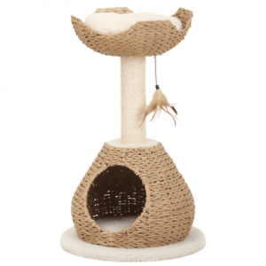 NEW-Petpals-Walk-Up-Paper-Rope-Condo-Perch-with-Sisal-Post-Cat-Scratcher-Toy