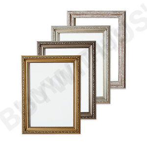 Ornate Picture Frame Shabby Chic Photo Frame Poster Frame Silver