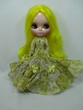 Blythe Outfit Handcrafted long sleeve dress basaak doll # 790-83