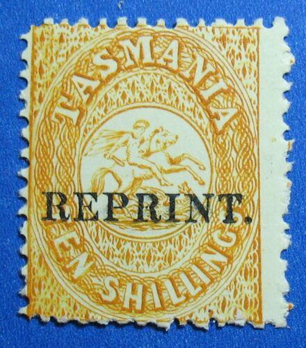 1889 TASMANIA AUSTRALIA 10S SCOTT #AR14 S.G.# F16 UNUSED NH REPRINT CS16708