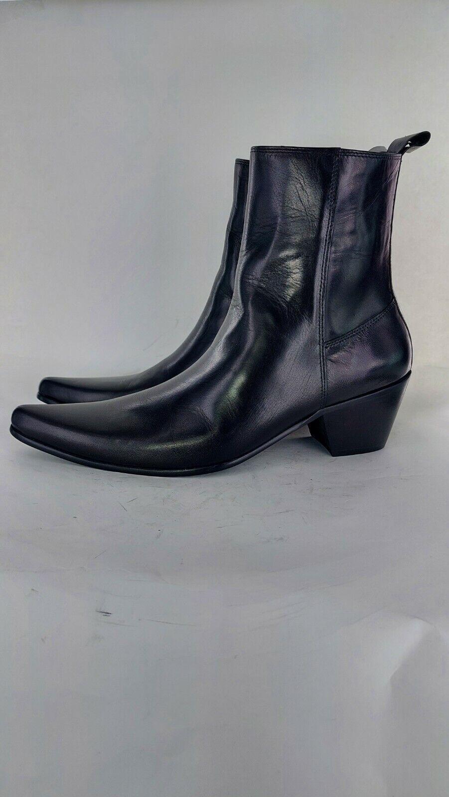 Club Cubano LENNON Mens Formal Leather Winklepicker Cuban Heel Boots Uk 9#834
