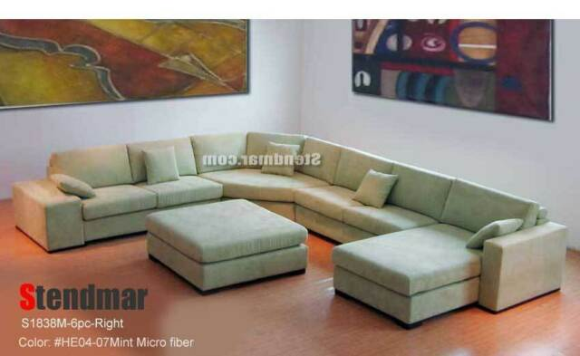 Incredible 6Pc New Euro Design U Sectional Fabric Sofa S1838M Creativecarmelina Interior Chair Design Creativecarmelinacom