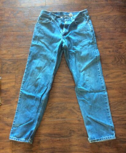 Vintage Worn Used Levi's 550 33x32 , Blue Jeans Relaxed Fit , Made In Canada