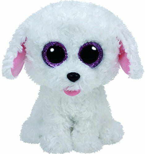 """WITH HEART TAG TY PIPPIE THE POODLE DOG BEANIE BOO 6/"""" SOFT TOY PLUSH 36 MONTHS"""