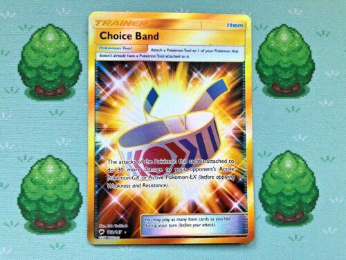 Choice Band Pokemon Secret Rare SM Burning Shadows 162//147