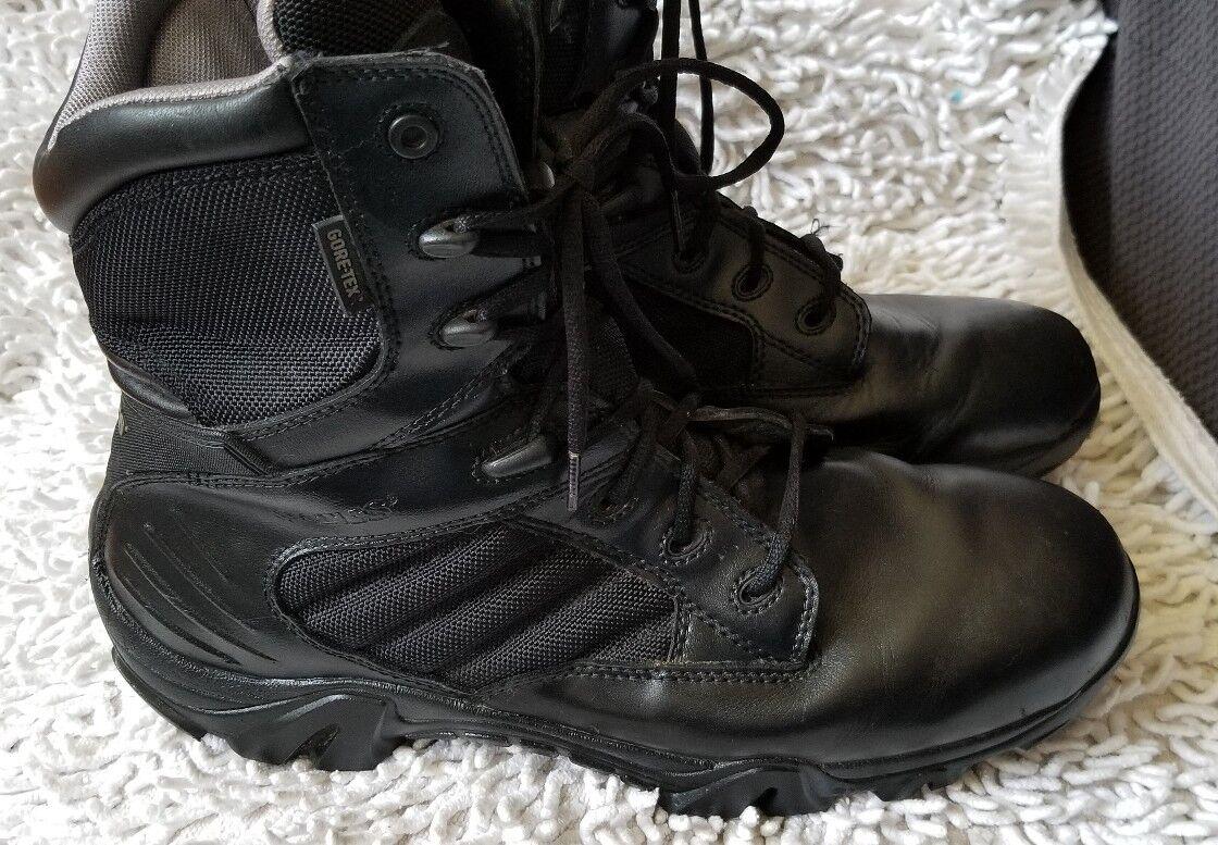Bates Men's GX-8 Black Waterproof Leather Leather Waterproof / Nylon Upper Boots E02268 Size 13 M fa03f8