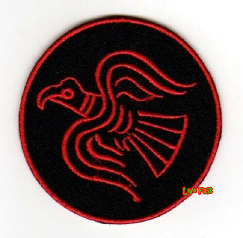 RED VIKING RAVEN SYMBOL EMBROIDERED IRON ON PATCH asatru odin thor pagan rune