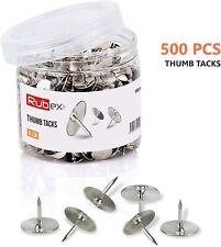 Thumtacks Rubex Push Pins Silver Metal Head Push Pins Standard Thumb Tacks 500