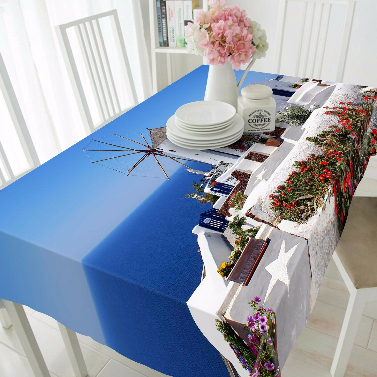 3D House sea99 Tablecloth Table Cover Cloth Birthday Party Event AJ WALLPAPER AU