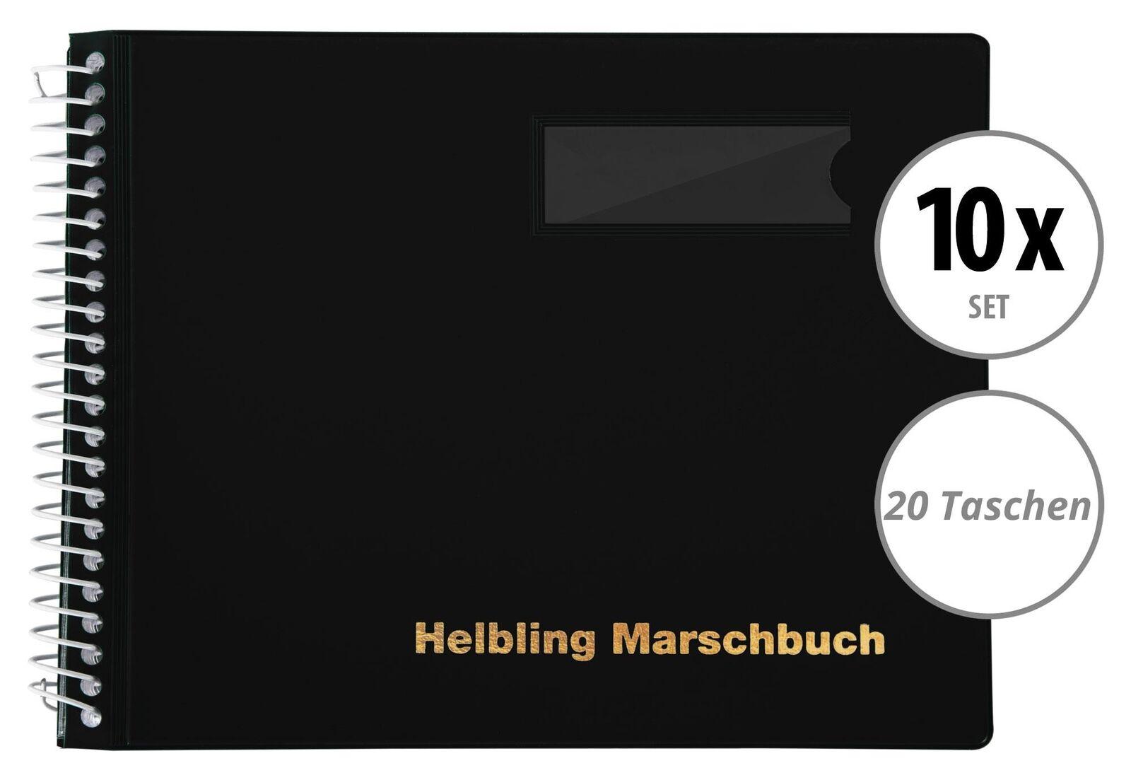 10x Helbling bms20 marschbuch negro 20 bolsillos marchen marchen marchen notas Book música Spiral 2ec5f9