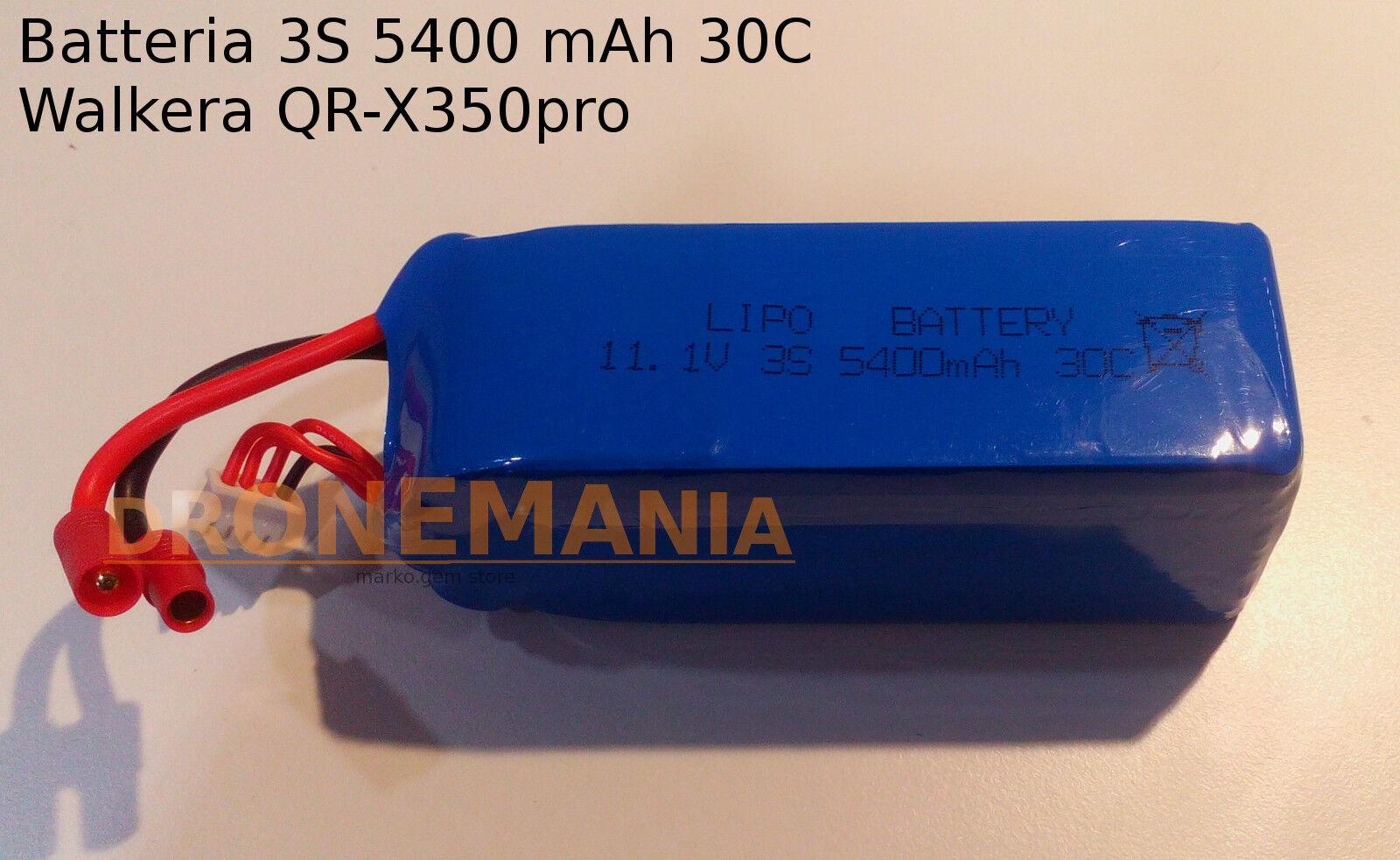 Batteria 3S 5400 mAh 30C per drone Walkera X350 PRO PRO PRO drone d8dace
