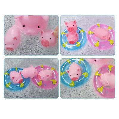 10Pcs A Little Lemon Rubber Pig Baby Bath Toy Baby Child Swimming Water Toy 6A