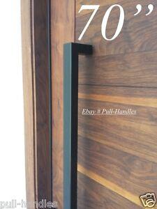 Entry Front Door Long Door Pull Handle Stainless Steel Entry Black ...