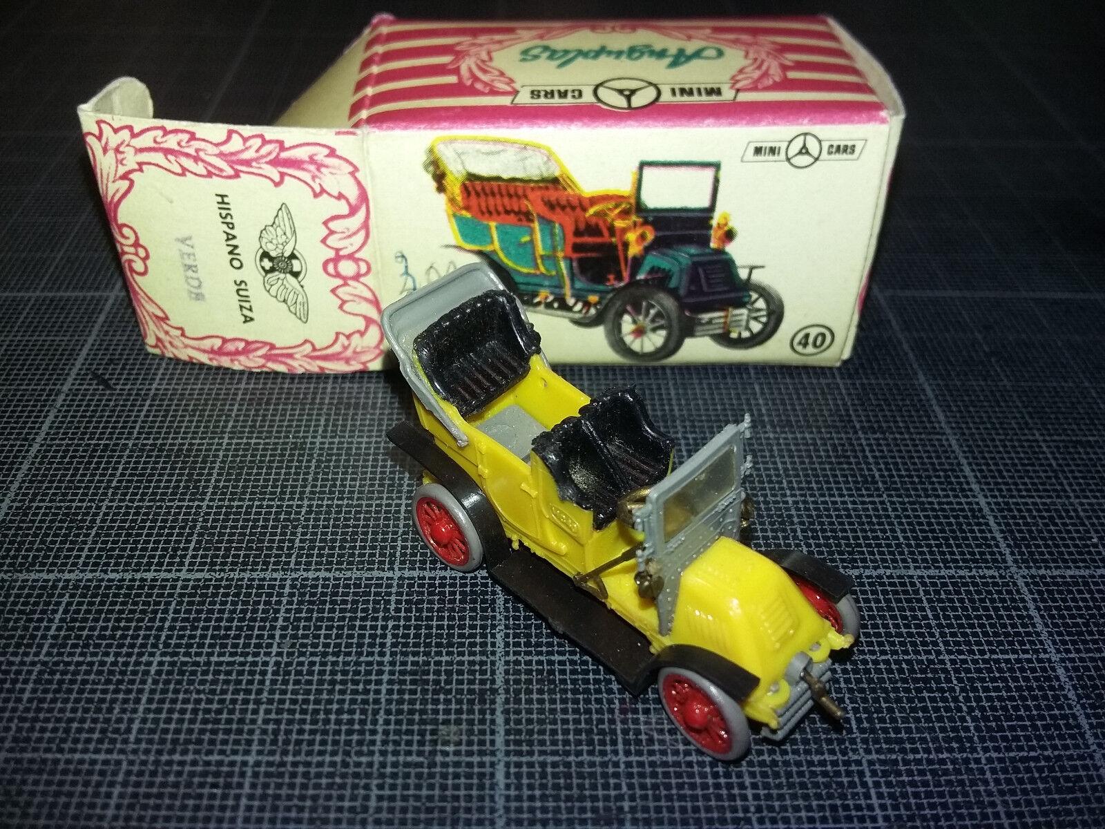 ANGUPLAS MINI CARS HO 1 87 1 86 HISPANO SUIZA TORPEDO JAUNE jaune TBE BOX N°40