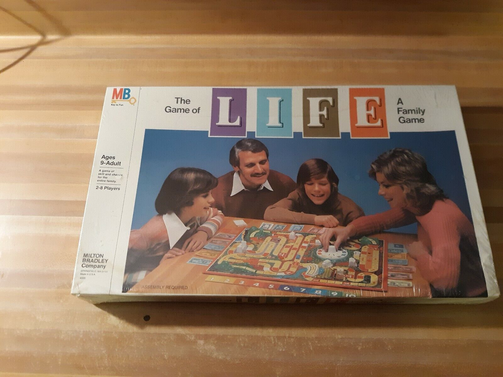 1980 Vintage el juego de la vida de un juego de la familia