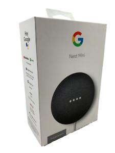 Google nido mini 2. Generation Smart altavoz control voz Carbon